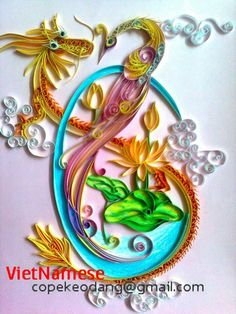 ♥♥ ♥ Quilled Dragon and Phoenix. ♥