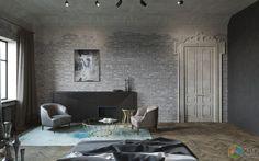 Дизайн квартиры в стиле лофт, функциональный интерьер, брутальный интерьер фото, дизайн Алексей Шестериков, studio-211 / Идеи для ремонта
