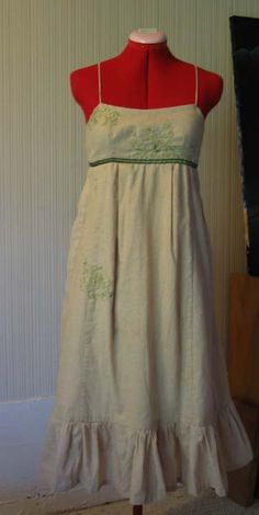 embroidered empire summer dress **UPDATED! Now with tutorial, pg. 5** - CLOTHING