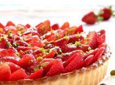 Crostata di fragole e pistacchi