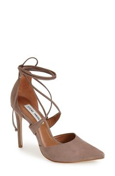 Free shipping and returns on Steve Madden 'Raela' Pump (Women) at Nordstrom.com. A sinuous, wraparound ankle tie amps up the allure of a scene-stealing stiletto pump with a wickedly pointy toe.
