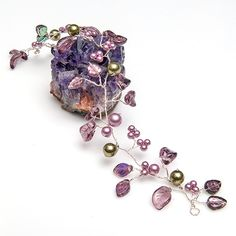 Purple Hair Vine  Flower Head Piece by CherylParrottJewelry, $71.95
