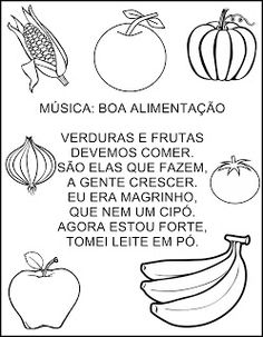 Musica Sobre Boa Alimentação English For Students, Professor, Place Card Holders, How To Plan, 30, Maria Clara, Kids Learning Activities, Literacy Activities, Interactive Activities