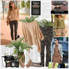 """Camouflage in style"" by sarapires on Polyvore"