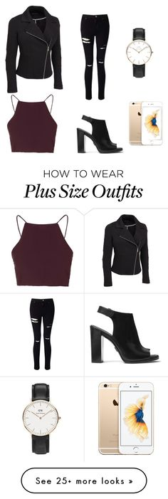 """""""Untitled #2"""" by lottehanema on Polyvore featuring Topshop, Miss Selfridge, Michael Kors, Daniel Wellington and plus size clothing"""