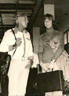 Robin & his dad Hugh Gibb