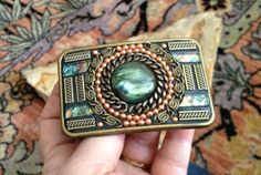 Highlander  Mosaic Belt Buckle by MarisueCaskey on Etsy, $85.00