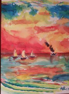 Acquerello - Paesaggi marini   dipinti   Pinterest
