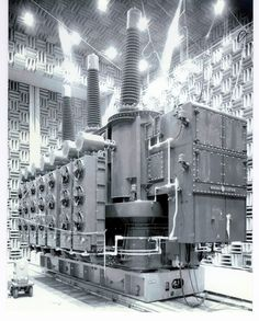unit in Building for Sound Test courtesy of General Electric Company General Electric, Electric Power, Electrical Substation, Electrical Transformers, Architecture Concept Diagram, Electric Company, Industrial Photography, The Old Days, High Voltage