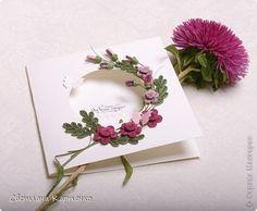 Открытка День рождения Квиллинг Поздравительная открытка - 2 Бумага фото 2