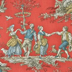 A long-time favorite fabric of mine, toile perfectly displays my love of all things french and charming...   Love this Manuel Canovas ad!...