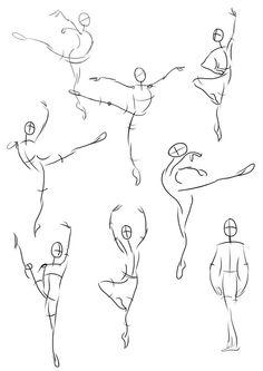 Gesture drawings - ballet dancers by mulberrypromenade on deviantART