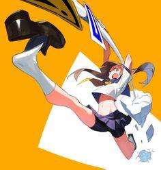 """근육표현과 질감표현이 힘들것 같음. A:)M on Twitter: """"… """" Character Poses, Character Concept, Character Art, Concept Art, Illustration Sketches, Character Illustration, Anime Style, Chica Anime Manga, Anime Art"""