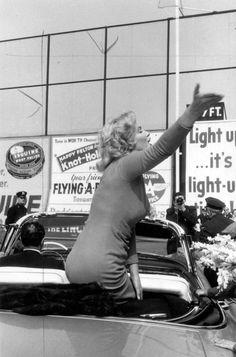 Marilyn at Ebbets Field, New York, May 12th 1957