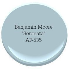 Benjamin Moore Serenata Coastal Paint Color