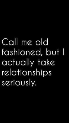 Call me old fashioned but