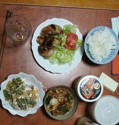 1月22日(木) 曇り雨 うすかつ マカロニサラダ 野菜炒め キムチ 64.9