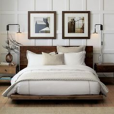 Atwood Bed without Bookcase Footboard in Beds & Headboards | Crate and Barrel $1784.15