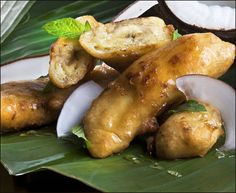 Friterte bananer