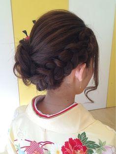 結婚式 髪型 和装 編み込み!フルアップ