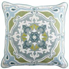 Flourish Velvet Medallion Pillow