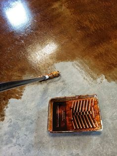 Staining and Finishing Concrete Floors | Ana White Woodworking Projects