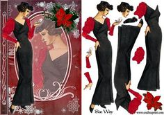 Dressed for Christmas Fashion Reflections Decoupage