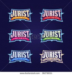 Jurist, lawyer full typography, t-shirt graphics, vectors - stock vector