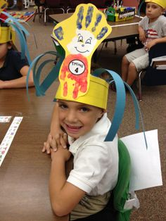 Dr. Seuss Day hats! thing 1 and thing 2 hats! The cat in the hat