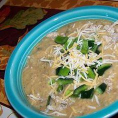 Restaurant-Style Cheesy Poblano Pepper Soup Recipe on Yummly