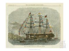 Art.fr - reproduction procédé giclée 'Antique Clipper Ship I'