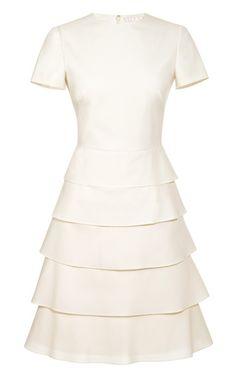 Valentino Tiered Cotton And Silk-Blend Dress
