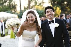 Pure happiness. Bride is wearing Vera Wang and #erincole accessories.   photo by:Victor Sizemore see more @ http://insideweddings.com/wedding/real-wedding/sung-wang?tab=