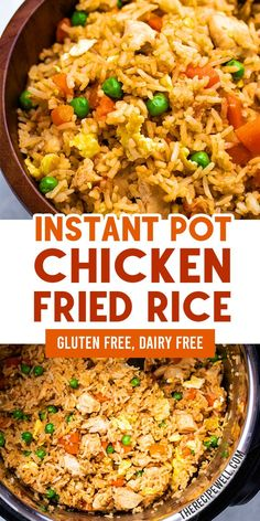 recipes easy Instant Pot Chicken Fried Rice is a fast and easy one-pot meal. This savoury recipe is perfect for a weeknight dinner or meal prep lunch! The Recipe Well for more great recipes! Best Instant Pot Recipe, Instant Recipes, Instant Pot Dinner Recipes, Instant Pot Meals, Chicken Breast Instant Pot Recipes, Instant Pot Chinese Recipes, Instant Pot Pasta Recipe, Arroz Frito, Easy One Pot Meals