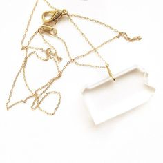 Pennsylvania Necklace by Lauren Strang of Muz Design