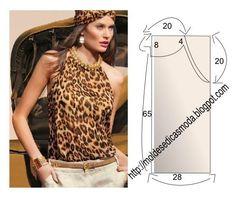 Plantillas de moda para Medida: BLUSA fácil de hacer - 25
