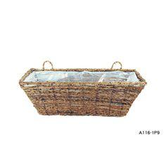 Garden Treasures 8-1/2-in H x 20-in W x 7-1/2-in D Wicker Outdoor Window Box
