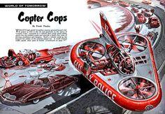 https://flic.kr/p/u6jSvC | 1957 ... Copter Cops! | artist - Frank Tinsley