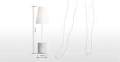 Ira Table Lamp, White | made.com Narrow Bedside Cabinets, White Table Lamp, Floating Shelves, Slim, Home Decor, Decoration Home, Room Decor, Wall Storage Shelves, Interior Decorating