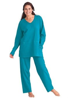 Dreams and Company Plus Size Lounger pantset Dream and Co $24.99