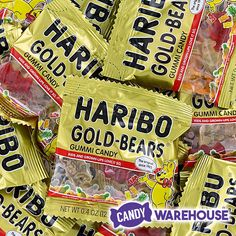 The classic gummy bear — Haribo Gold-Bears Gummy Bear Candy, Gummy Bears, Haribo Gold Bears, Wholesale Candy, Pineapple Yellow, Gold Candy, Types Of Candy, Red Raspberry, Baking Supplies