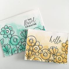 simple technique using watercolor and doodle buds