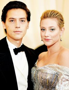 Lili Reinhart and Cole Sprouse attend Fashion & The Catholic Imagination Costume Institute Gala at The Metropolitan Museum of Art in New York City (May 07)