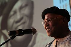 Lifetime Acheivement Award winner for Visual Art Prof Pitika Ntuli at the 2013 ACT Awards. Photo: John Hogg