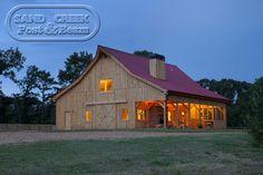 Barn Home at Night