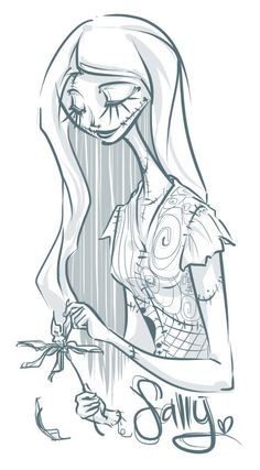 sally from nightmare before christmas drawing - Google Search ...