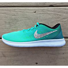 Nike Free RN with Swarovski Crystal Bling Hyper by TheFrostShoppe