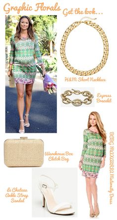 Graphic Florals | One Mama, Four Looks: Stacy Keibler's Maternity Style | The Baby Post