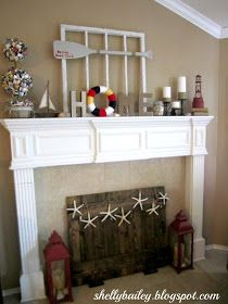 Shelly's Creations: My Nautical Themed Summer Mantel