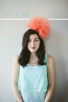 Tulle Poof Party Hat #WowWithTownhouse #ad